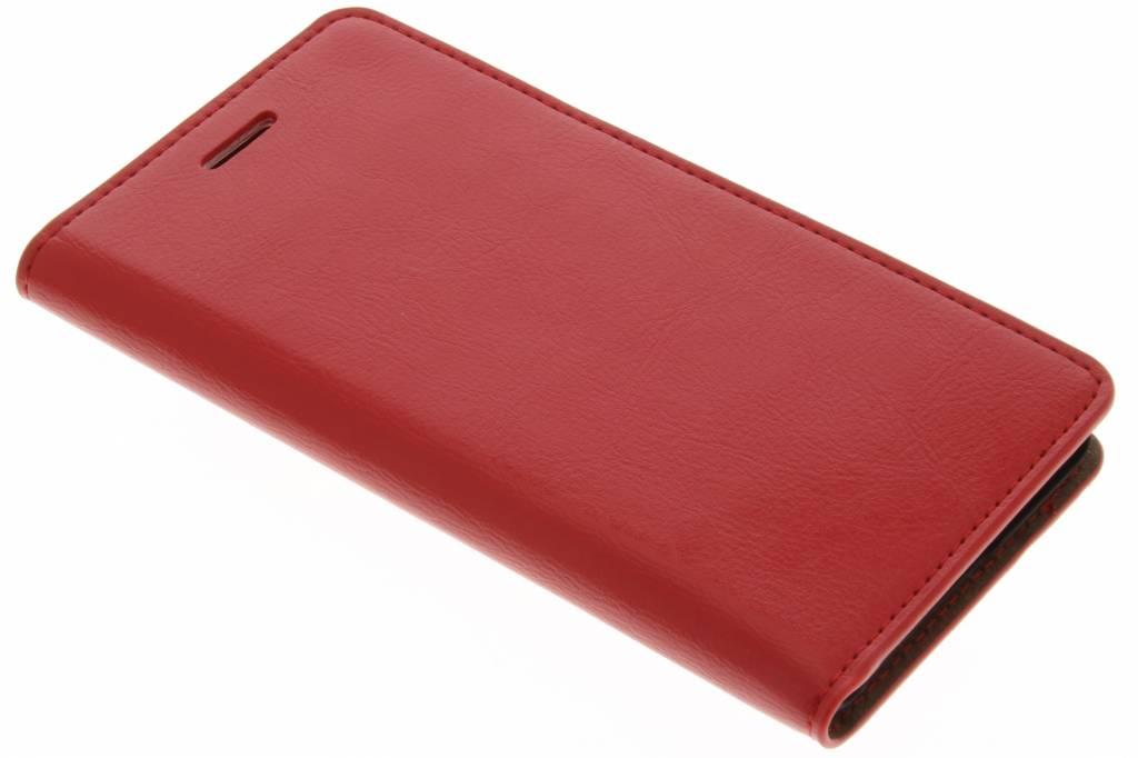 Rode zakelijke booktype hoes voor de Huawei P9