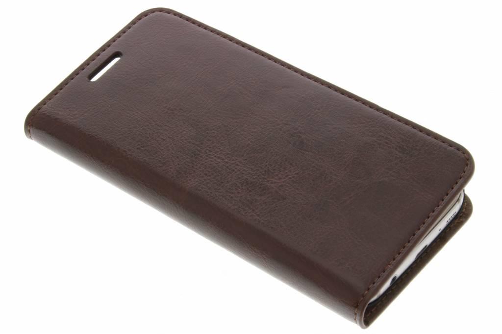 Donkerbruine zakelijke booktype hoes voor de Samsung Galaxy S7