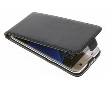 Zwart luxe flipcase Samsung Galaxy S7 Edge