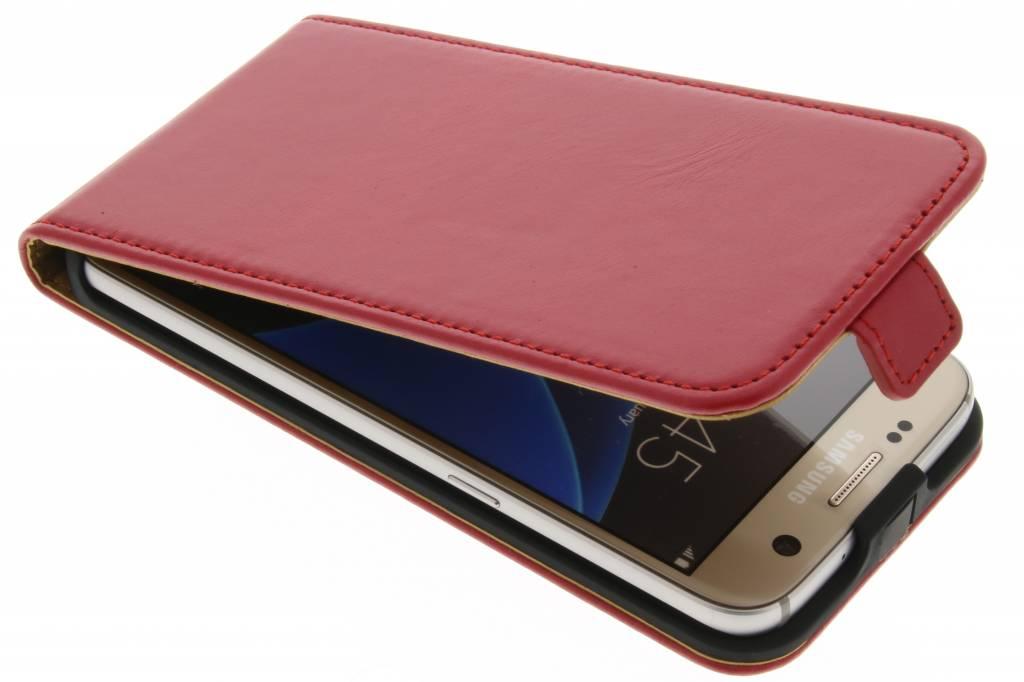 Selencia Luxe lederen Flipcase voor de Samsung Galaxy S7 - Rood