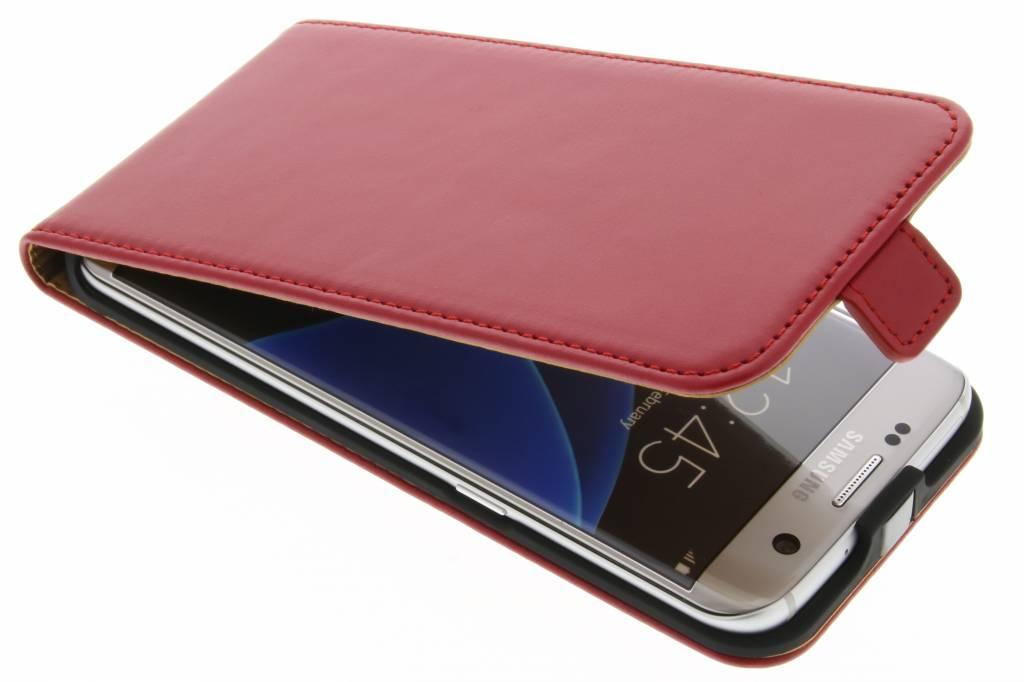 Selencia Luxe lederen Flipcase voor de Samsung Galaxy S7 Edge - Rood