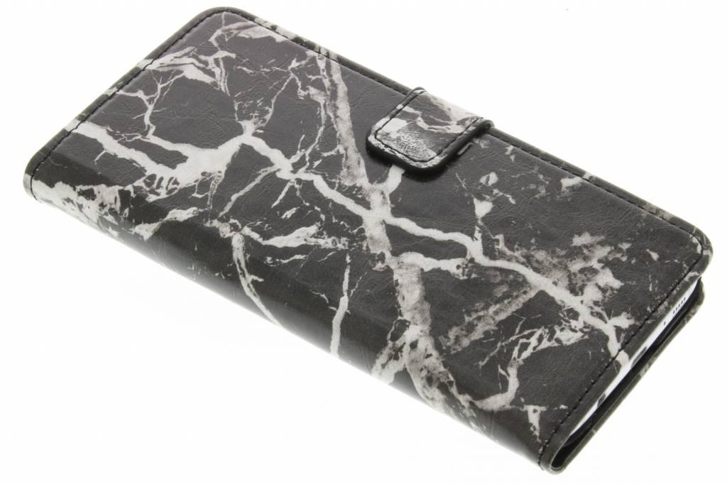 Zwarte marmer booktype hoes voor de Samsung Galaxy S7 Edge