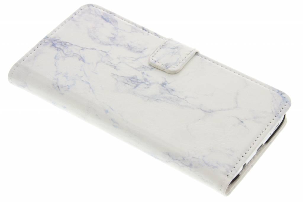 Witte marmer booktype hoes voor de Samsung Galaxy S7 Edge