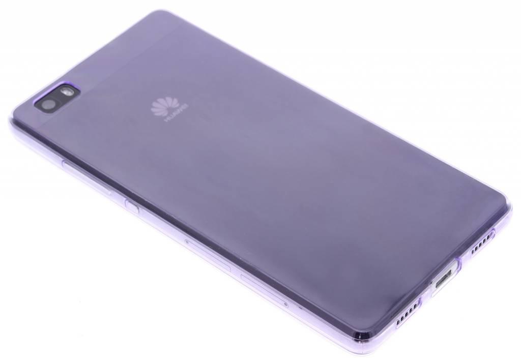 Paars ultra thin transparant TPU hoesje voor de Huawei P8 Lite