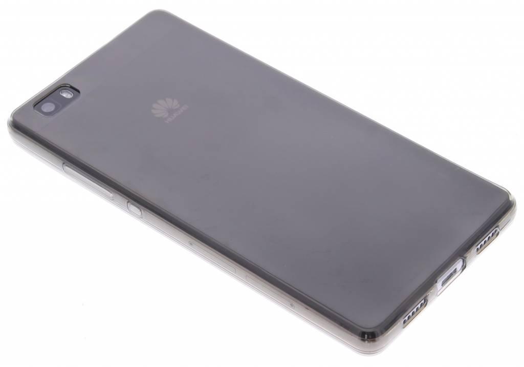 Grijs ultra thin transparant TPU hoesje voor de Huawei P8 Lite