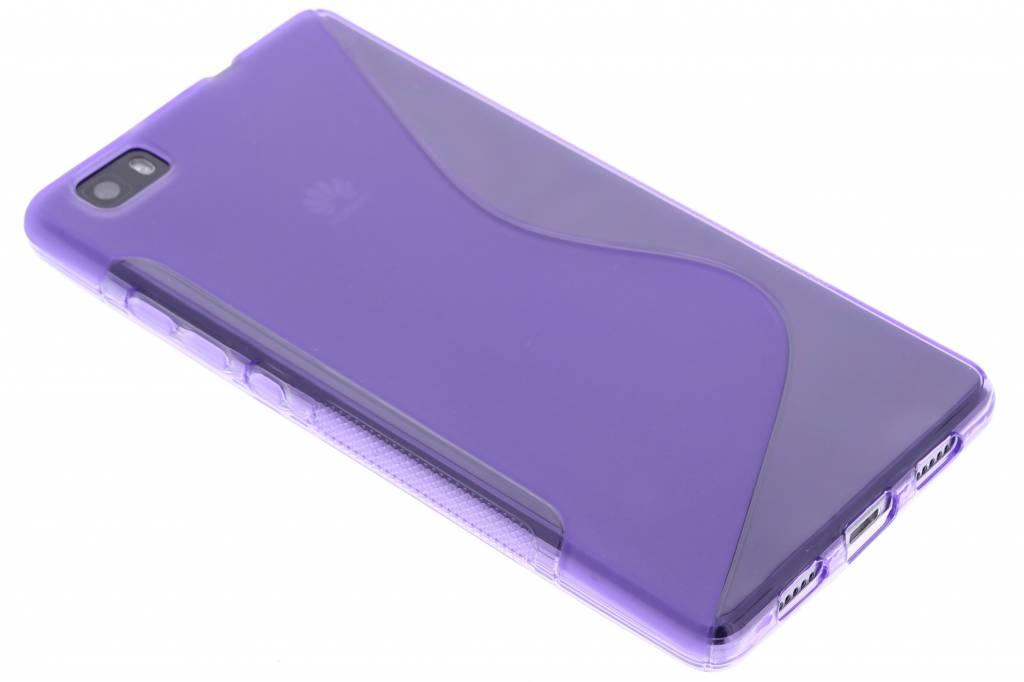 Paars S-line TPU hoesje voor de Huawei P8 Lite