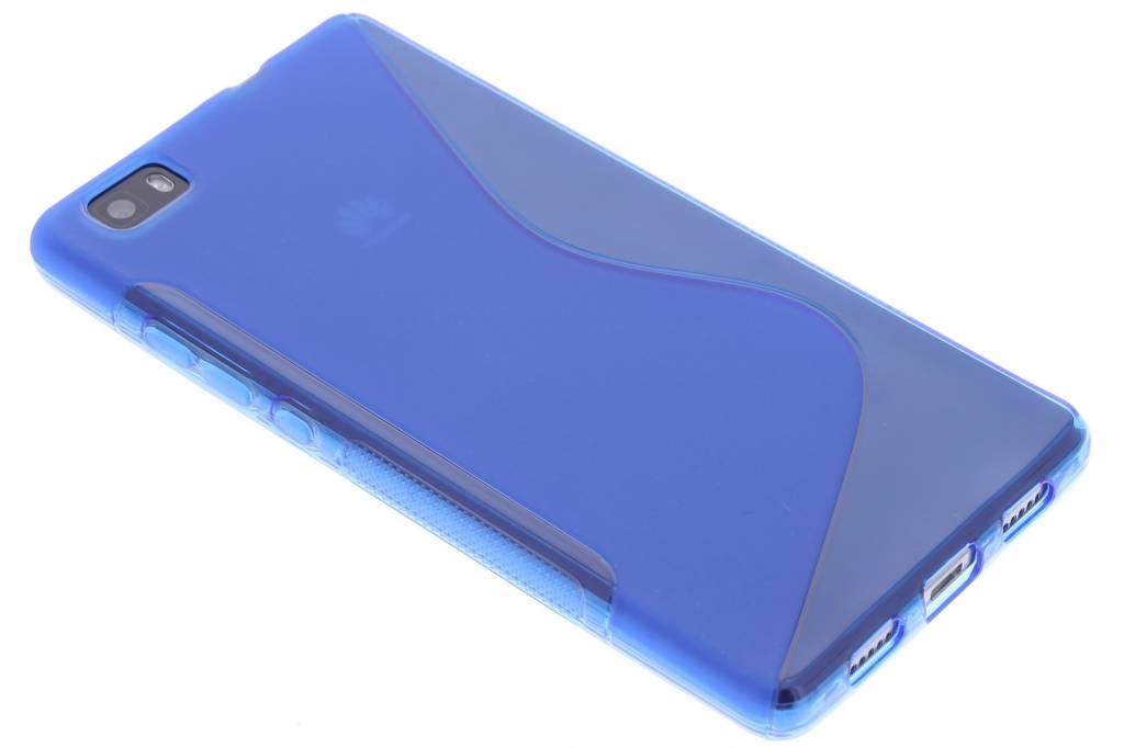Blauw S-line TPU hoesje voor de Huawei P8 Lite