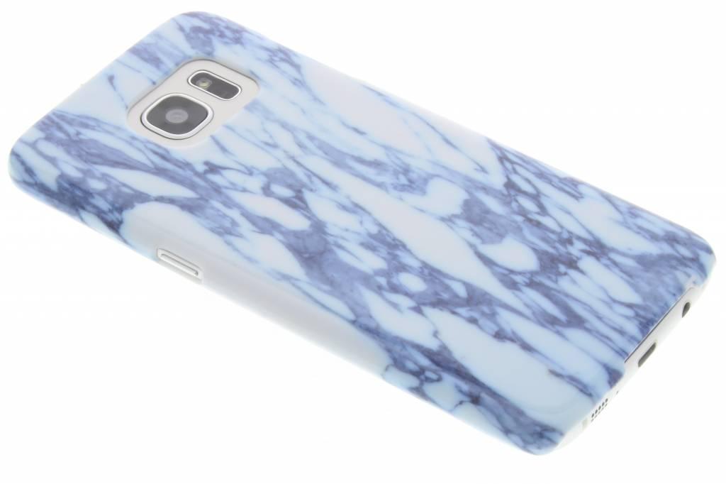 Blauwe marmer hardcase hoesje voor de Samsung Galaxy S7 Edge