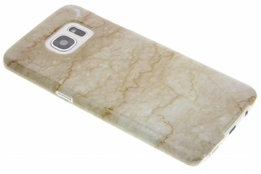 Beige marmer hardcase hoesje voor de Samsung Galaxy S7 Edge
