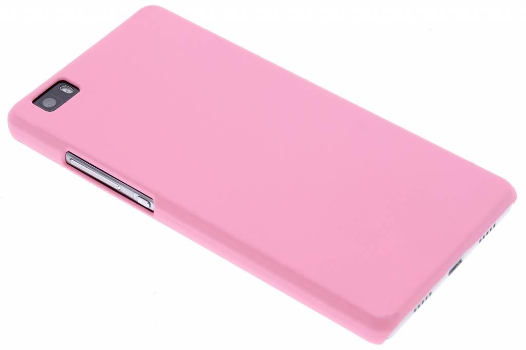 Roze effen hardcase hoesje voor de Huawei P8 Lite