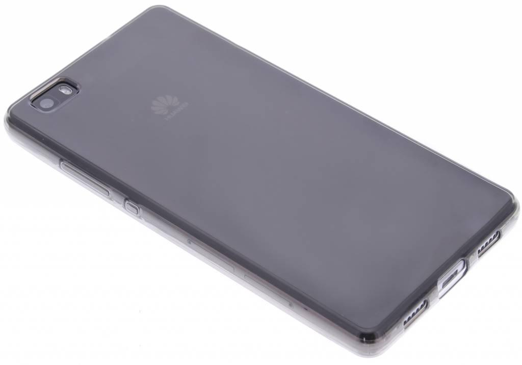 Grijze transparante gel case voor de Huawei P8 Lite