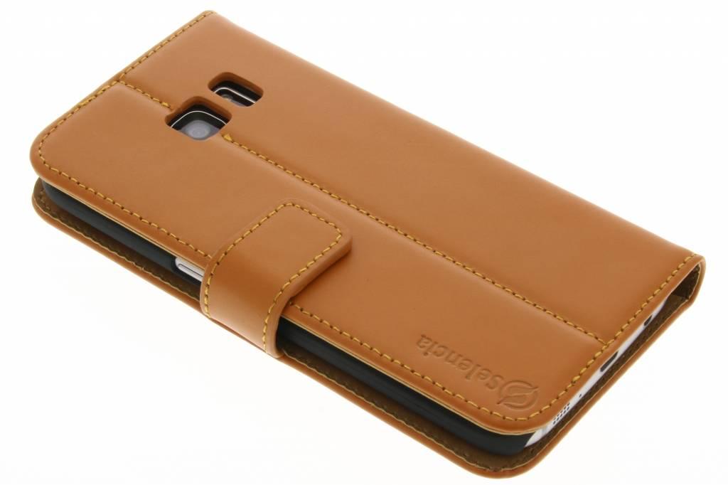 Selencia Luxe Lederen Booktype voor de Samsung Galaxy S7 - Oker