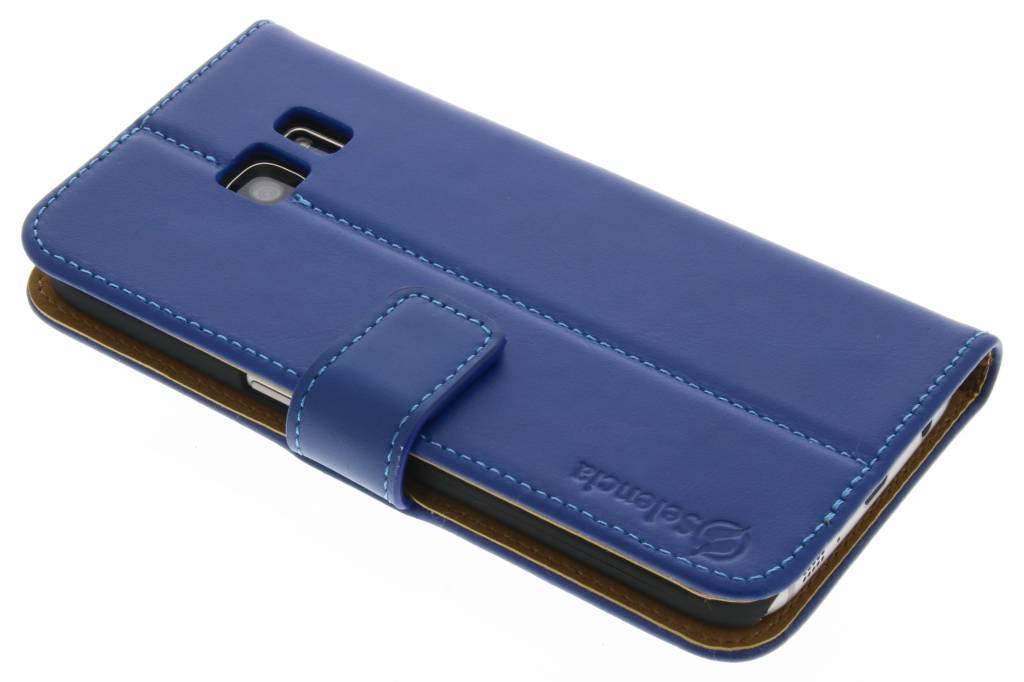Selencia Luxe Lederen Booktype voor de Samsung Galaxy S7 - Blauw