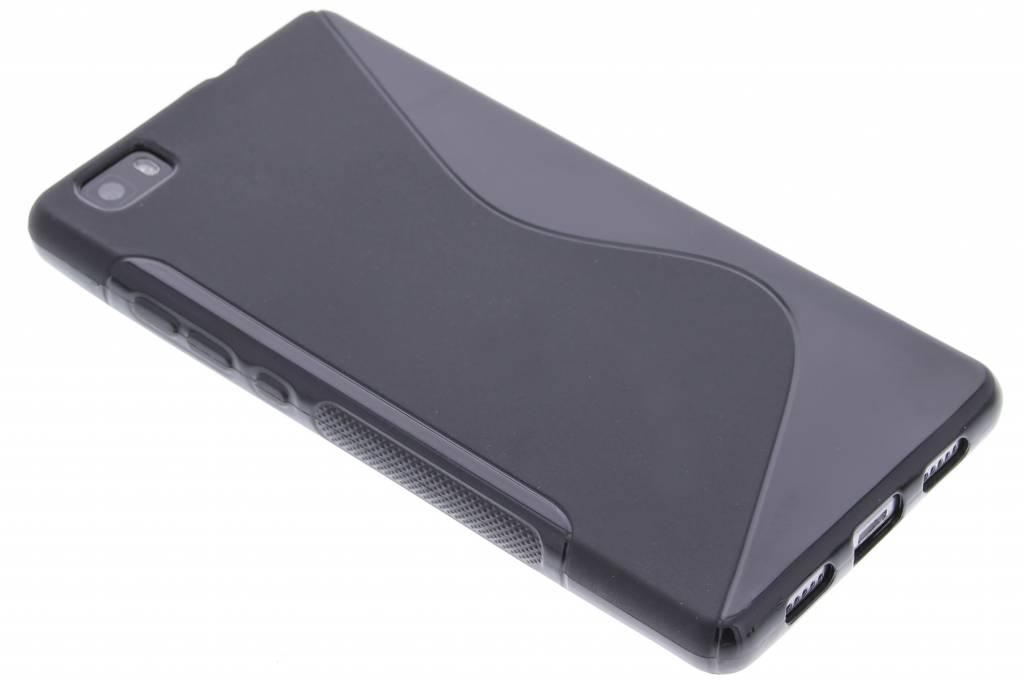 Zwart S-line TPU hoesje voor de Huawei P8 Lite