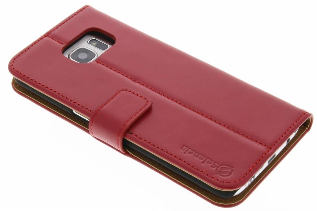 Selencia Luxe lederen booktype hoes voor de Samsung Galaxy S7 Edge - Rood
