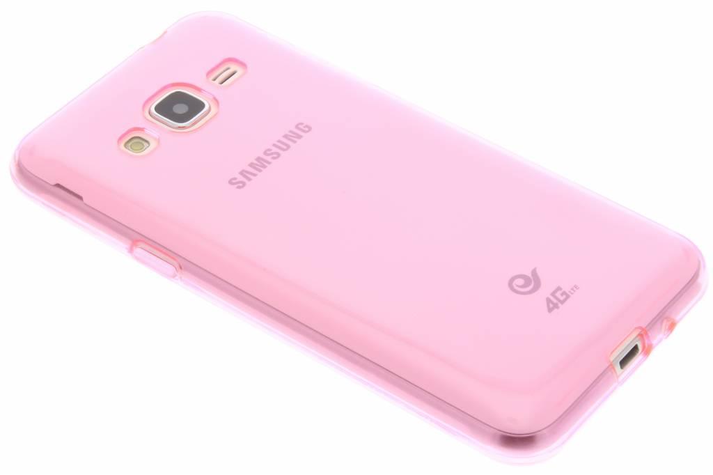 Roze transparante gel case voor de Samsung Galaxy J3 / J3 (2016)