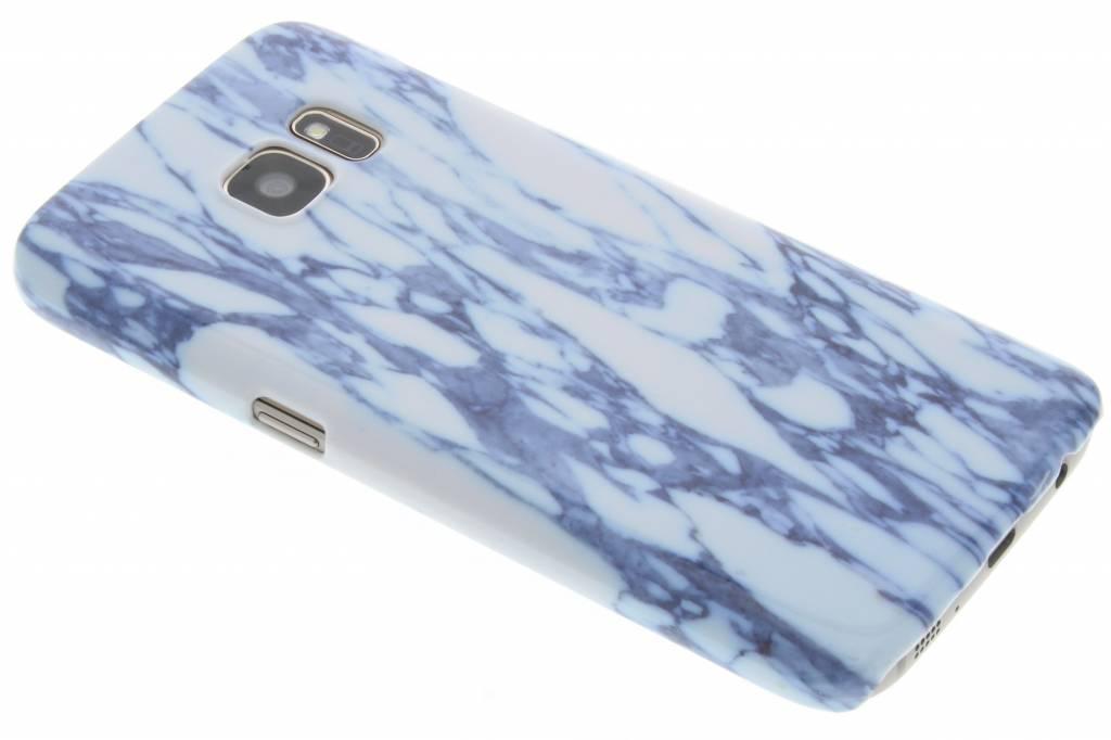 Blauw marmer hardcase hoesje voor de Samsung Galaxy S7