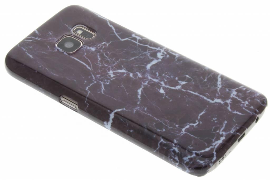 Donkerpaars marmer hardcase hoesje voor de Samsung Galaxy S7