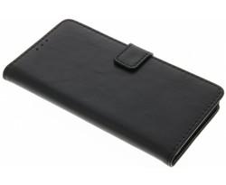 Zwart luxe leder booktype hoes Huawei P9