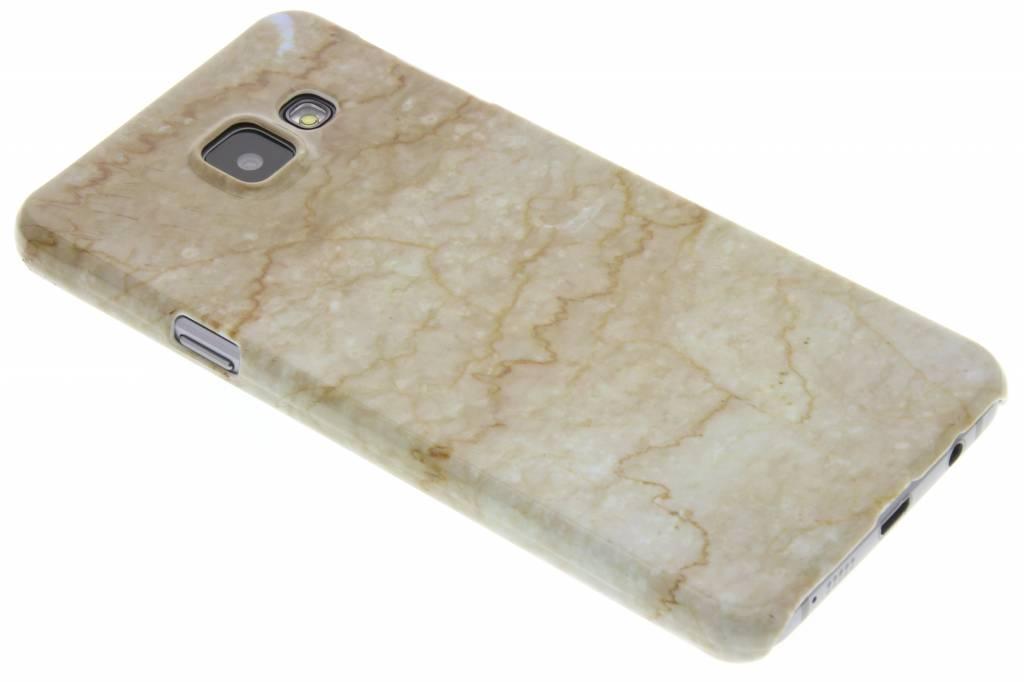 Beige marmer hardcase hoesje voor de Samsung Galaxy A3 (2016)