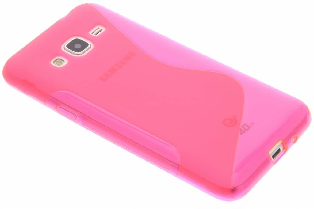 Rosé S-line TPu hoesje voor de Samsung Galaxy J3 / J3 (2016)