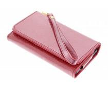 Rood universeel glitter portemonnee hoesje maat S