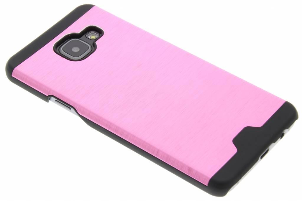 Roze brushed aluminium hardcase hoesje voor de Samsung Galaxy A3 (2016)