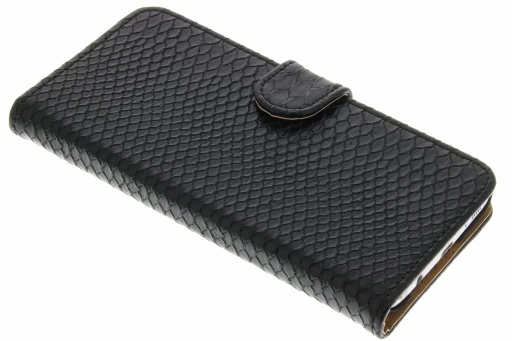 Zwarte slangen booktype hoes voor de Samsung Galaxy S7 Edge