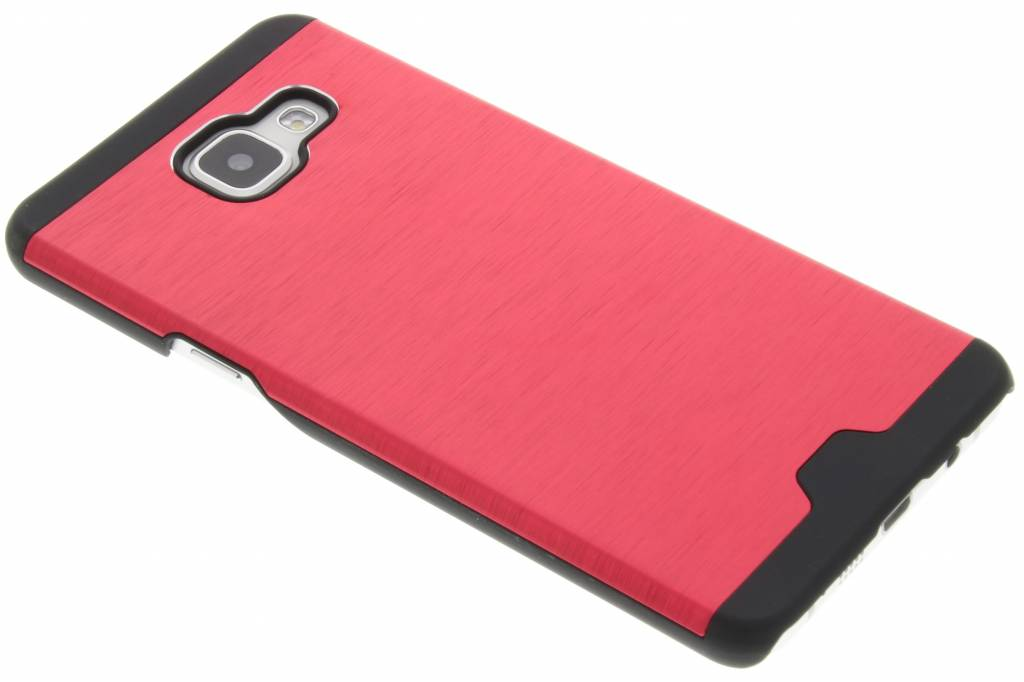 Rood brushed aluminium hardcase hoesje voor de Samsung Galaxy A5 (2016)