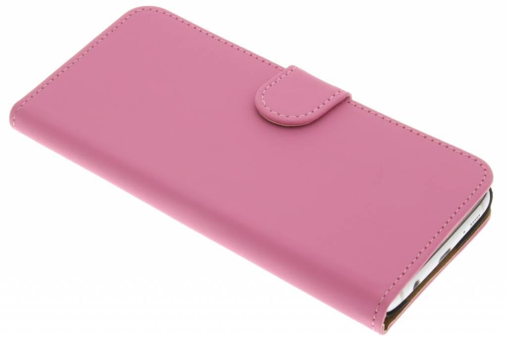 Roze effen booktype hoes voor de Samsung Galaxy S7 Edge