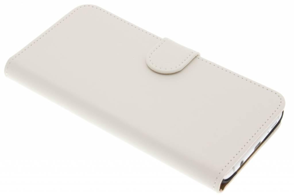 Witte effen booktype hoes voor de Samsung Galaxy S7 Edge
