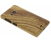 Hout design hardcase hoesje Microsoft Lumia 535