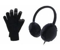Muvit Stereo Earmuff en touchscreen handschoenen