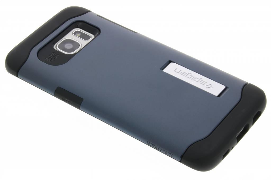 Spigen Slim Armor Case voor de Samsung Galaxy S7 Edge - Metal Slate