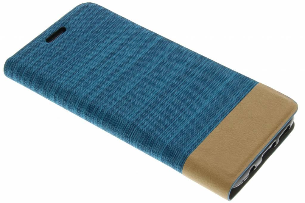 Lichtblauwe denim TPU booktype hoes voor de Samsung Galaxy S7 Edge