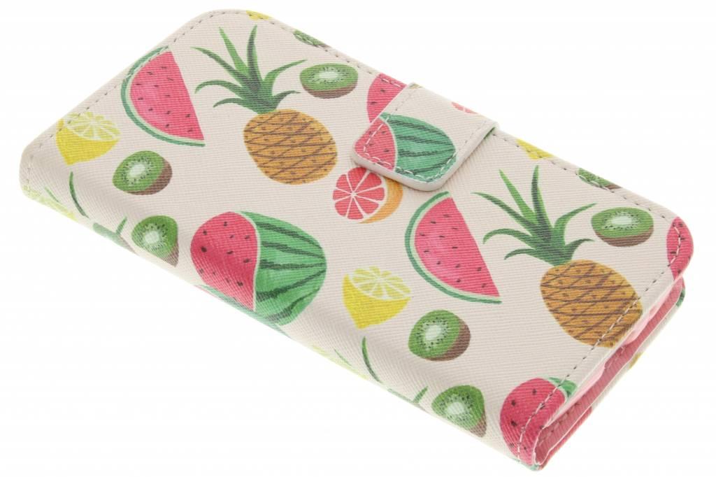 Fruit design TPU booktype hoes voor de Samsung Galaxy Core