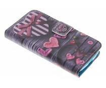 Design TPU booktype hoes Samsung Galaxy S4 Mini