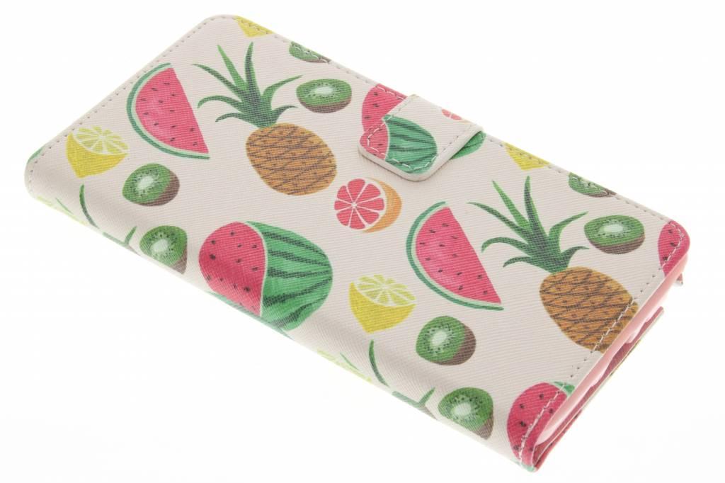 Fruit design TPU booktype hoes voor de Samsung Galaxy Note 4