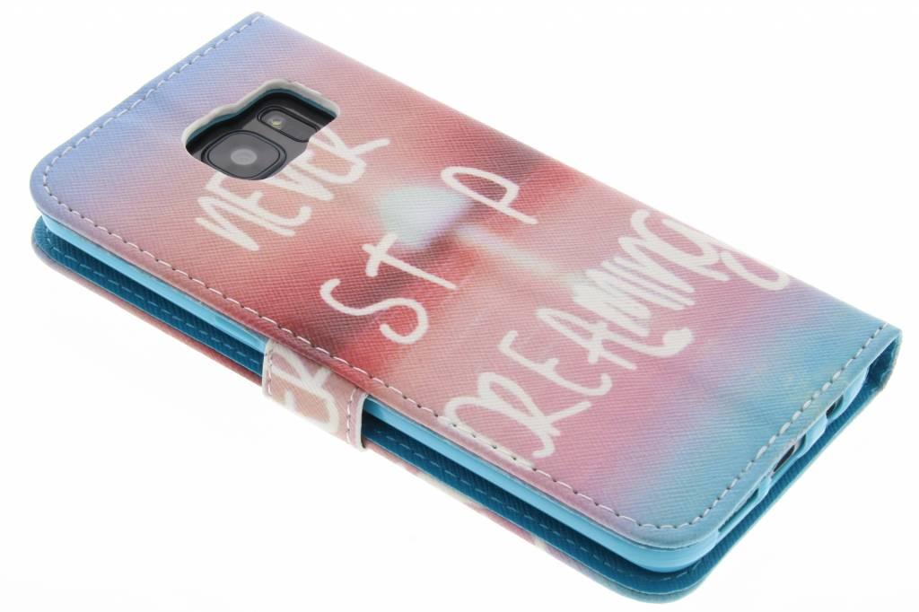 Jamais Arrêter De Rêver La Conception Booktype Tpu Case Pour Acer Liquid Z530 83mxWPdH