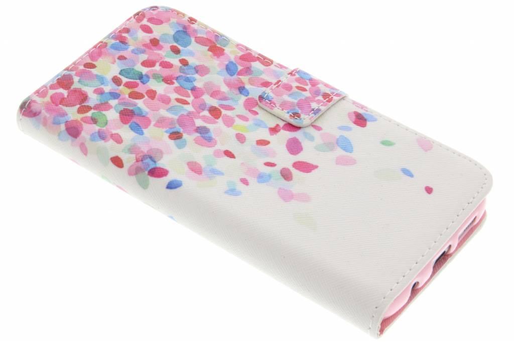 Confetti design TPU booktype hoes voor de Samsung Galaxy S7 Edge
