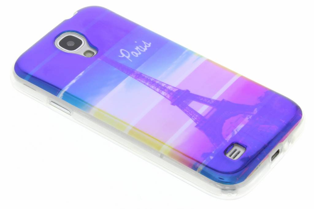 Metallic eiffeltoren design TPU hoesje voor de Samsung Galaxy S4
