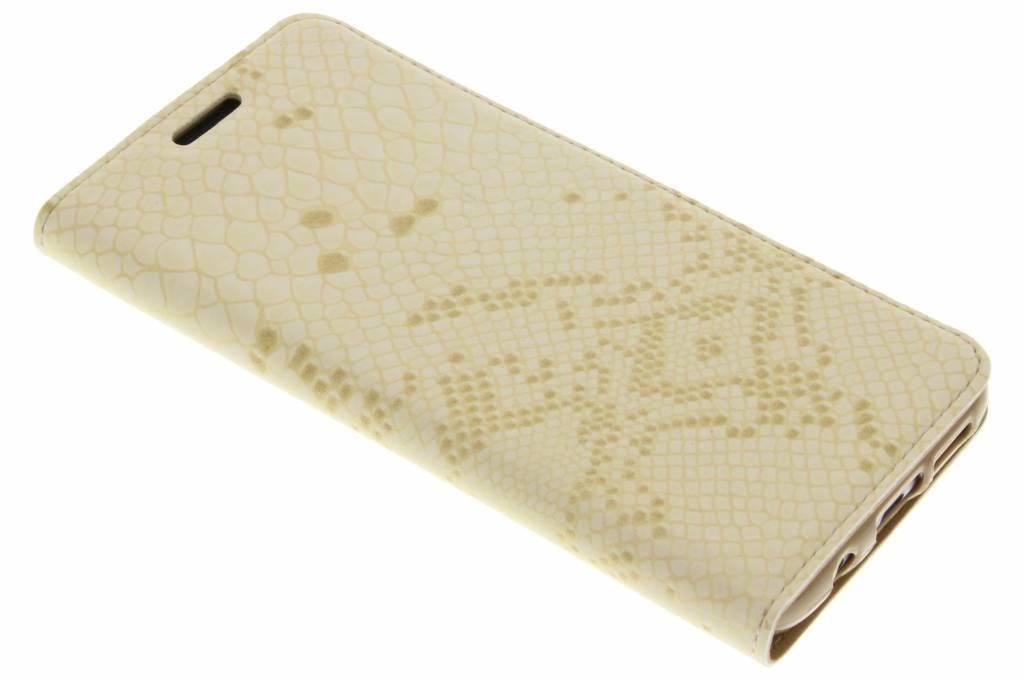 Gouden luxe slangen TPU booktype hoes voor de Samsung Galaxy S7 Edge
