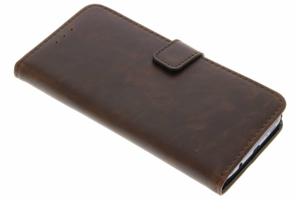 Bruine luxe leder booktype hoes voor de Samsung Galaxy S7 Edge