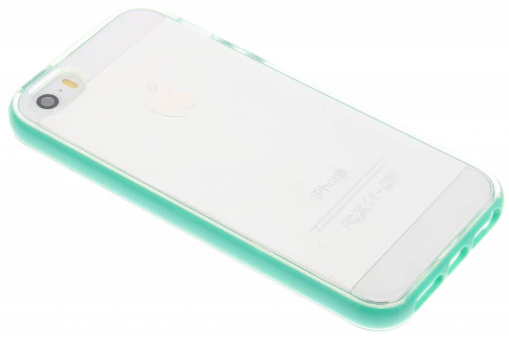 Mintgroene bumper TPU case voor de iPhone 5 / 5s / SE