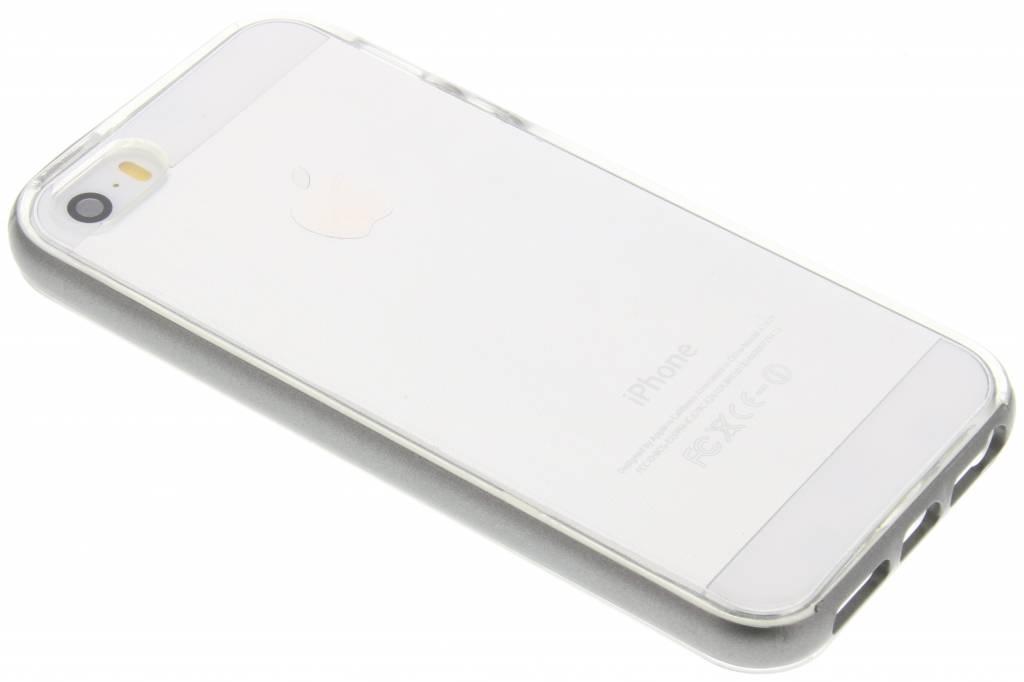 Grijze bumper TPU case voor de iPhone 5 / 5s / SE