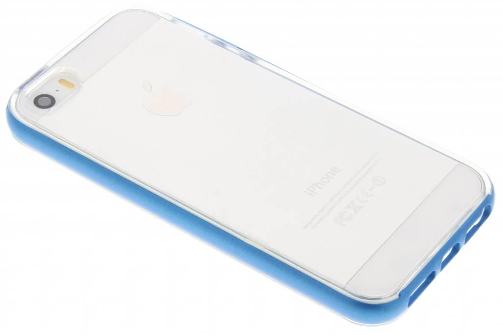 Blauwe bumper TPU case voor de iPhone 5 / 5s / SE