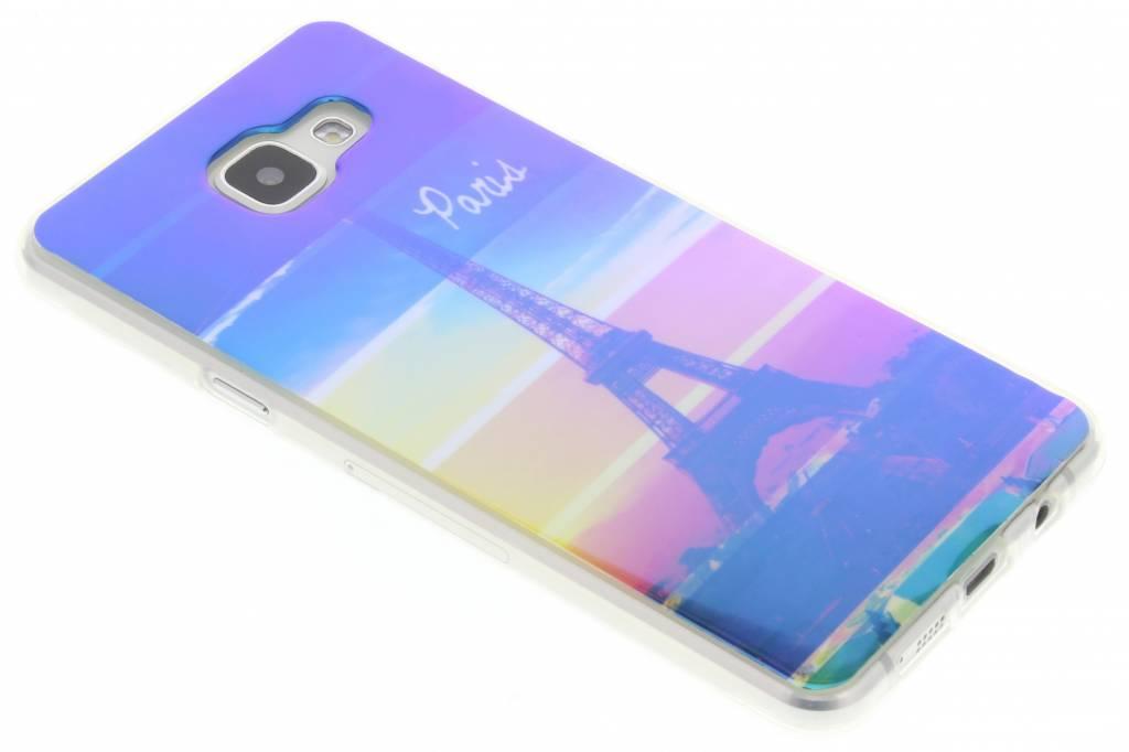 Metallic eiffeltoren design TPU hoesje voor de Samsung Galaxy A5 (2016)