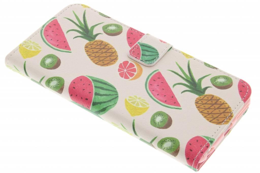 Fruit design TPU booktype hoes voor de iPhone 6(s) Plus