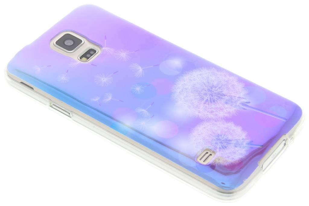 Metallic dandelion design TPU hoesje voor de Samsung Galaxy S5 (Plus) / Neo