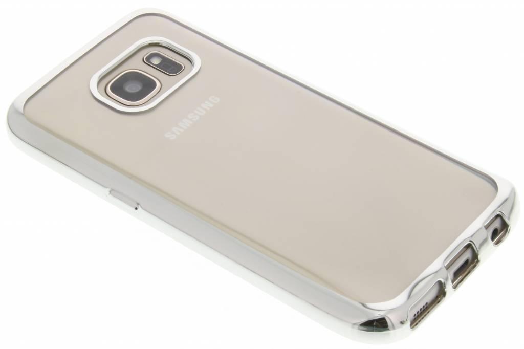 Zilver TPU hoesje met metallic rand voor de Samsung Galaxy S7